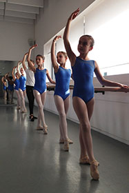 A Ballet Elementary Class in the Grand Studio